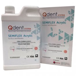 Qdent Semiflex Base Acrylic - Powder 750g